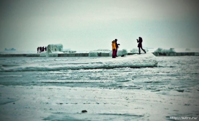 море, одесса, замерзло море