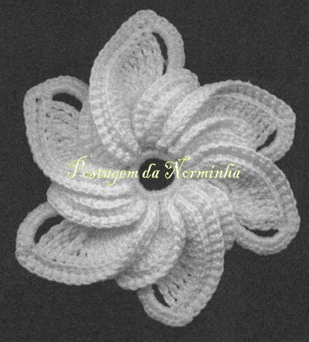 Фото цветок крючком