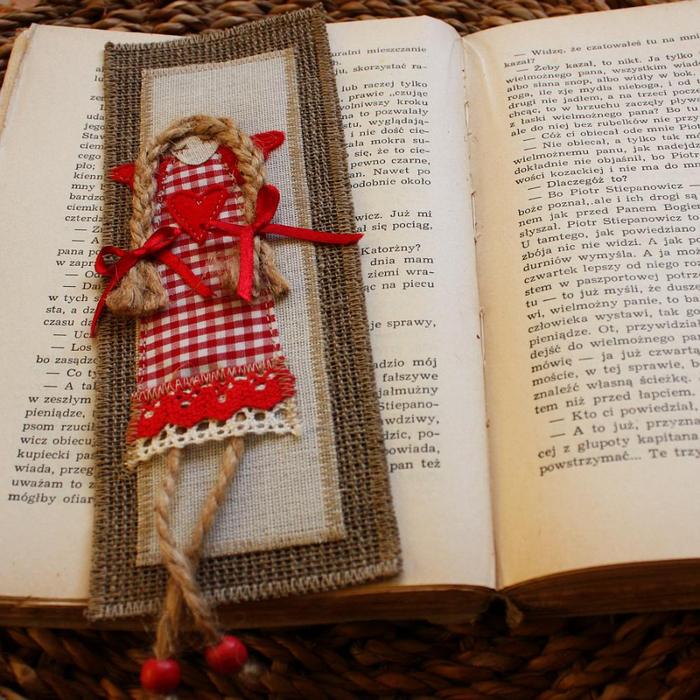 Закладки своими руками для книги из тесьмы