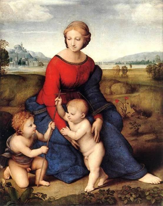 Мадонна Бельведерская,1506 г.