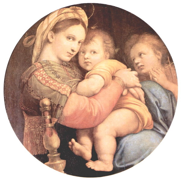 Raffael_Santi_Madonna_on_the_Chair_Madonna_with_Child_and_John_the_Baptist_b (600x598, 92Kb)