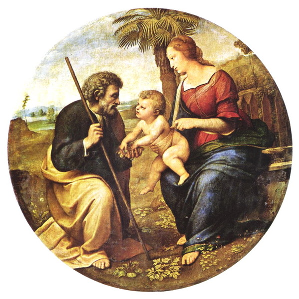 Raffael_Santi_The_Holy_Family_under_the_Palm_art_b (599x600, 116Kb)