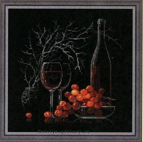 "Вышивка""Вино и виноград на"