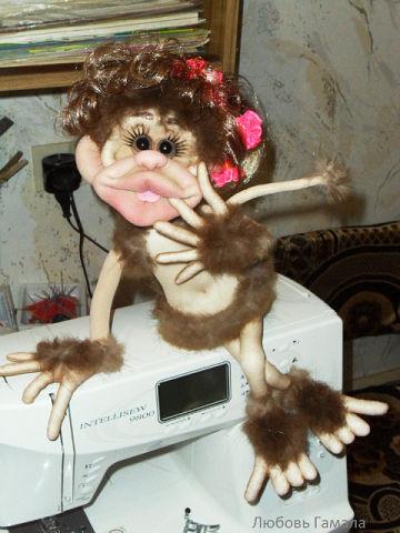 Тряпичная обезьянка своими руками