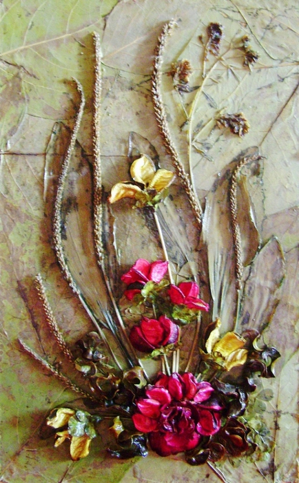 Картины из сухих роз как сделать