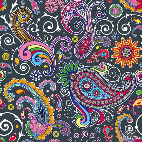 Предпросмотр - Схема вышивки Цветочный орнамент - Схемы автора.