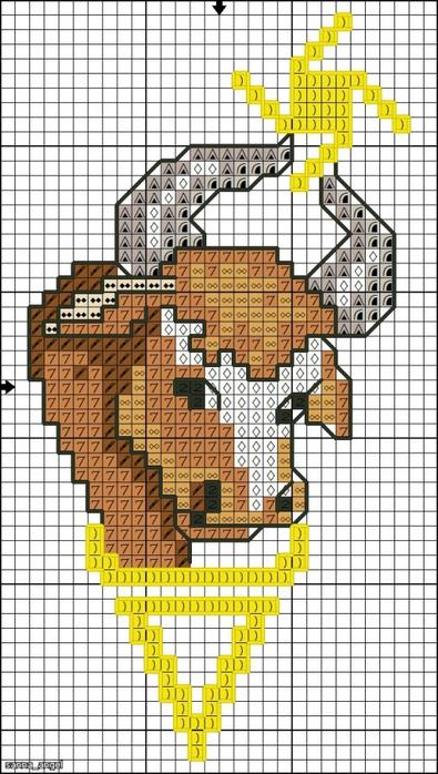 Схема вышивки бог один 234