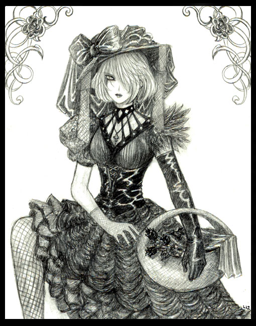 Gothic_Flowergirl (510x650, 100Kb)