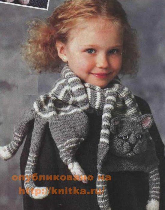 Вязание спицами детских шарфов 10