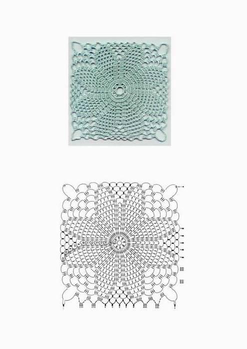 Фотография 6 - Вязание крючком - Вязание со схемами - Фотоальбом - Вязание на заказ.