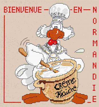 """4 страницы. b Автор/b:Jean Louis Название: Схема для вышивки крестиком  """"Гусь повар """" Издательство:  """"Grandsire """" Год..."""