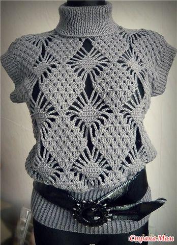 пуловер без рукавов (348x480, 61Kb)