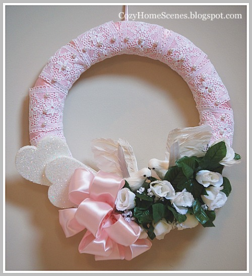 Romantic Heart Wreath- Finished 2 (1) (500x548, 76Kb)