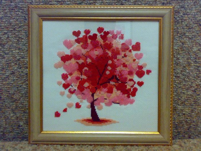 Вышивка бисером фото сердце