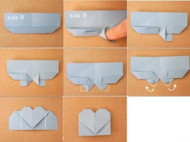 Закладка в виде сердечка как сделать
