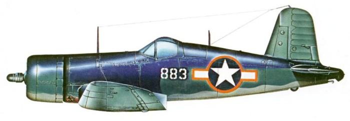 04 F4U-1 Боингтона VMF-214 1943 (700x242, 31Kb)