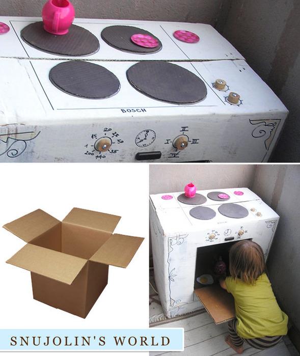 Как сделать из коробки плитку 195