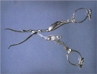 Ножницы в форме аиста, приносящего ребенка. Англия (400x308, 30Kb)