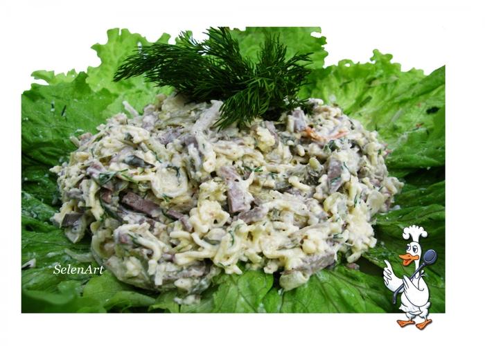 Рецепты салатов с грибами белая береза