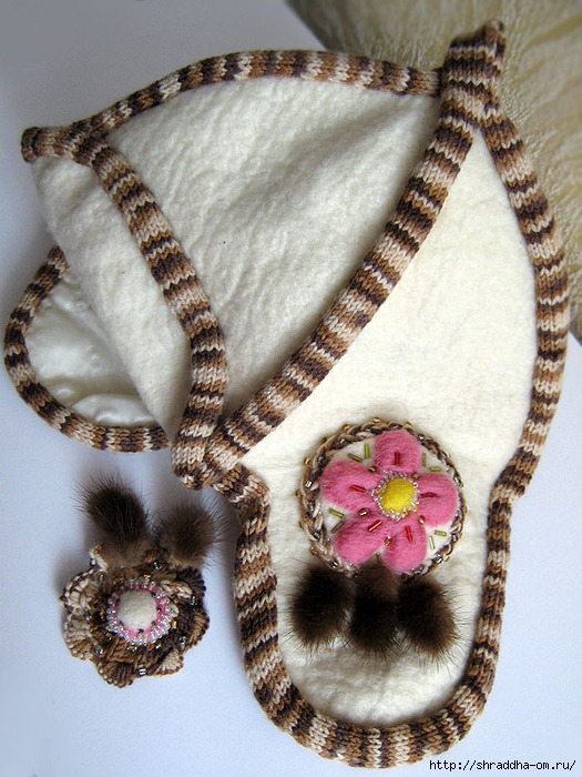 шапка зимняя с ушами, hand made, автор Sraddha (14) (525x700, 297Kb)