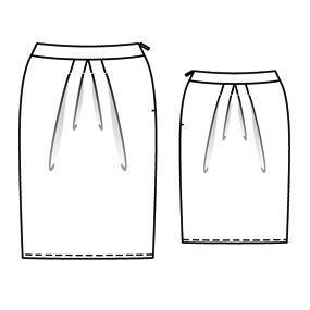 Готовая выкройка юбки тюльпан