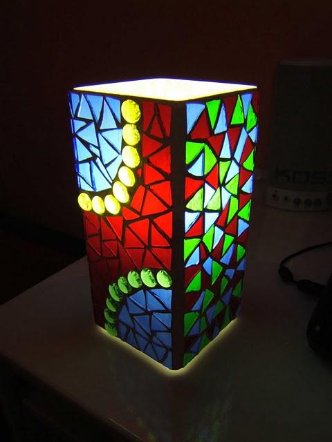 Светильник с мозаикой своими руками