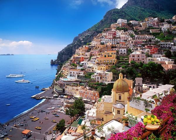 Необычные и красивые города на скалах - Позитано 1 (600x480, 122Kb)