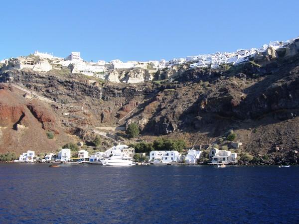 Необычные и красивые города на скалах - Санторини 3 (600x450, 93Kb)