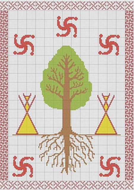 Схема вышивки оберега роженица