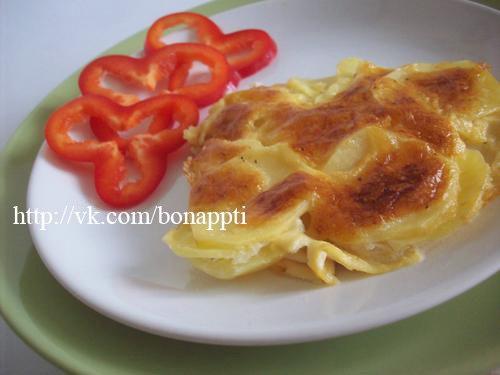 """Подаем с овощами. Картофель """"Дофине"""" – вегетарианское блюдо. Если как тут без яиц делать)) Приятного аппетита! (500x375, 26Kb)"""