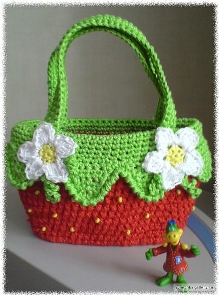Идеи для вязания: оригинальные детские сумочки крючком.