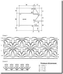 схема вязания и выкройка болеро