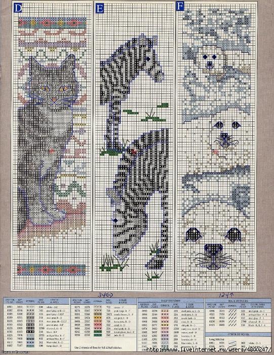 Схема вышивки животные.