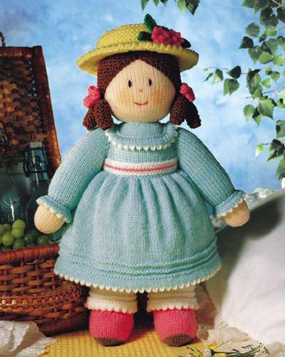 Большая вязаная кукла своими руками