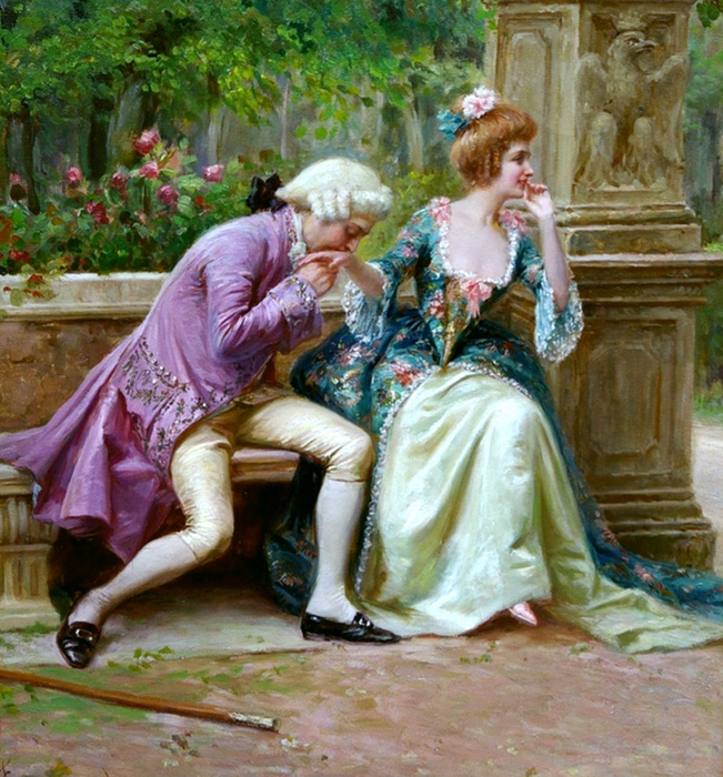 если мужчина целует руки