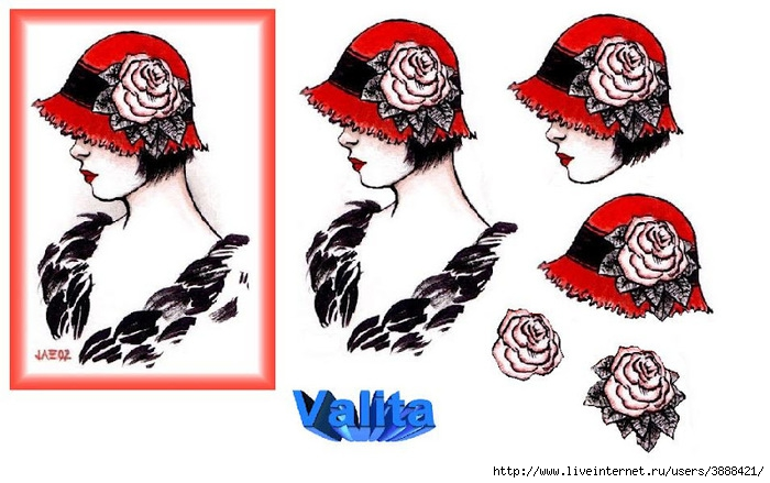 red_rose_hat_lady3d (700x439, 190Kb)
