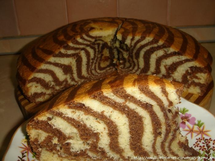 Пирог зебра рецепт со сметаной в домашних условиях