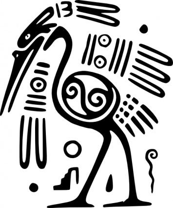ancient-mexico-motif-bird-clip-art (355x425, 59Kb)
