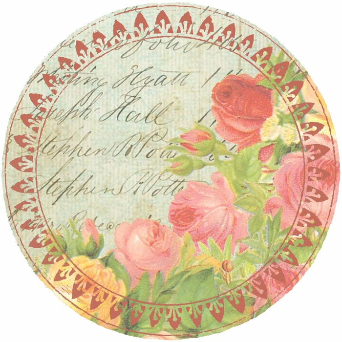blue distressed ledger & roses 4inch rnd graphic ~ lilac-n-lavender (700x700, 345Kb)