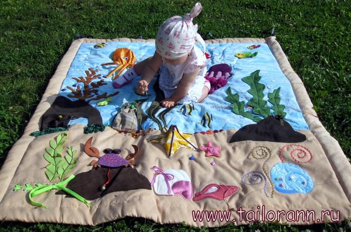 Развивающие коврики своими руками идеи