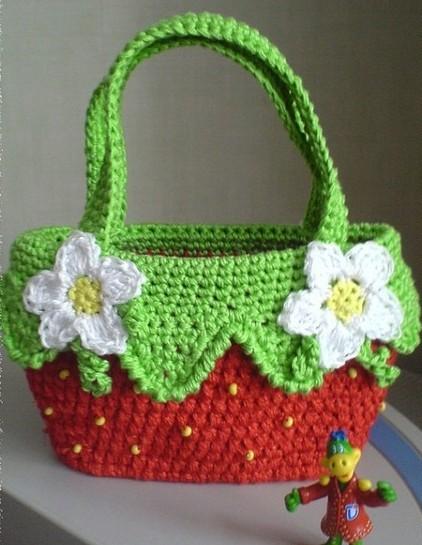 схемы вязания крючком детских сумок.
