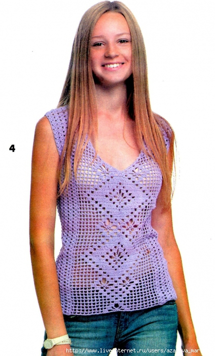 Блузки Топики С Кольцами Для Вязания Крючком
