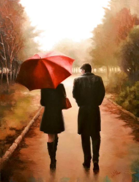 Волшебный красный зонтик от Daniel Del Orfano