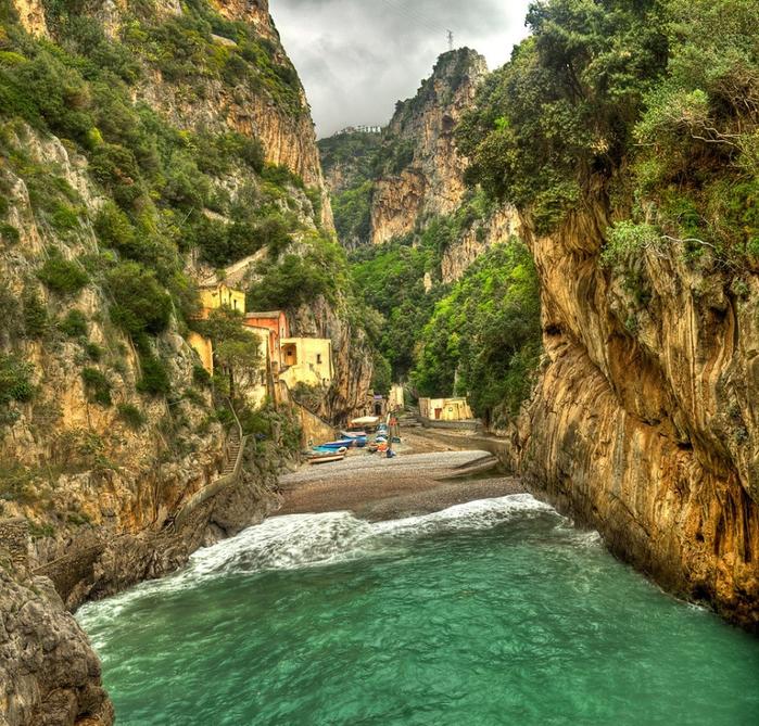 итальянская деревня фуроре