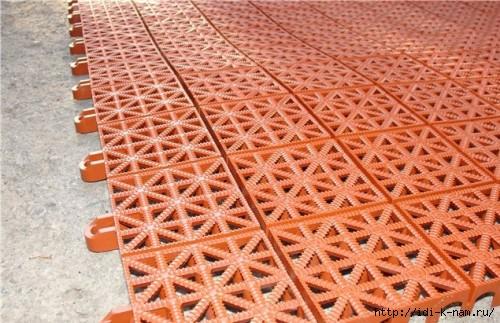 Тротуарная плитка своими руками из пластмассы