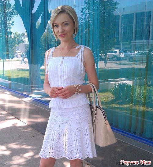 钩针白色裙子 - maomao - 我随心动
