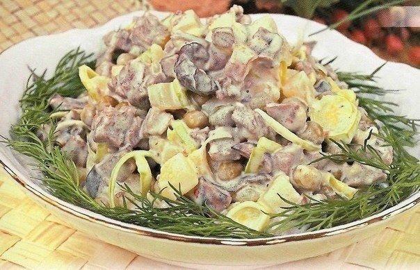 Салат мясной с грибами (604x389, 80Kb)