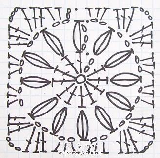 Весенний плед в ромашках крючком (9) (328x323, 140Kb)