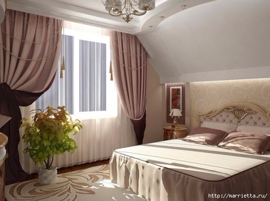 Интерьер спальни в мансарде (2) (550x411, 124Kb)