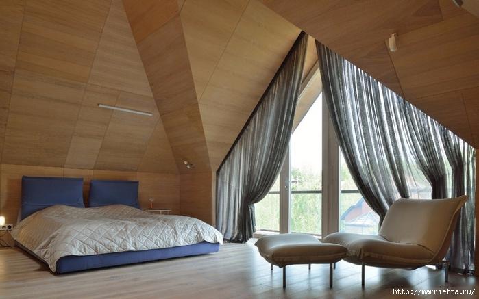 Интерьер спальни в мансарде (6) (699x437, 203Kb)